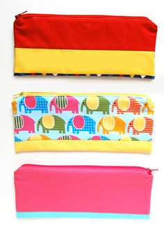 DIY Pencil Pouch - This  is from a massive list of 16 Awesome Free Pencil Case Tutorials!