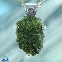 Museum Grade Moldavite Silver Pendant SW424 by ArkadianCollection