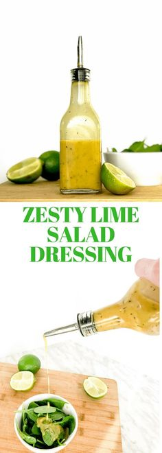 Use this fresh and delicious Zesty Lime Salad Dressing as a marinade for grilled chicken or seafood, or a dressing for your next salad. So Tasty! #saladdressing #vinaigrette