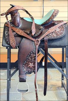 BHFI131-NEW WESTERN LEATHER BARREL RACING TRAIL PLEASURE HORSE RIDING SADDLE