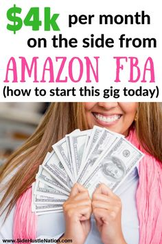 I'm so glad I started my Amazon FBA gig! $4k extra per month is no joke. Here are some tips and best practices to start your Amazon FBA side hustle today. Perfect for entrepreneurs, side hustlers, freelancers, and those who want to make money on the side with Amazon FBA clearance arbitrage.