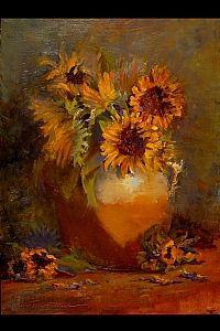 Christine Hooker - Work Detail: Tuscan Sunflowers