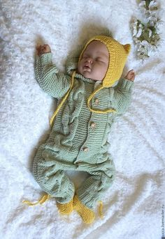 Knitted Baby Girl Coming Home Outfit Crochet Baby Pants, Knitted Baby Clothes, Knitted Romper, Baby Overalls, Baby Jumpsuit, Baby Dress, Girls Coming Home Outfit, Jumpsuit Pattern, Baby Knitting Patterns