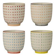 Tasse expresso en c�ramique (par 4) Carla Bloomingville