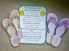 Flip Flop Glyph Printables - Great Display and Activity for End of The Year / Last Day of School