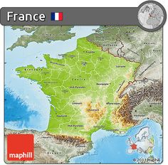 World Geography Neighbouring Countries Of France Map France - France geographical map