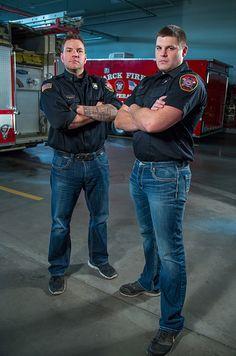 Bismarck-Mandan firefighters (Hoses) Brave the Shave for childhood cancer awareness.