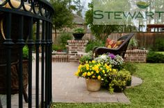 At Stewart Land Designs we specialize in the design and installation of custom pools, irrigation, lighting, pavers, retaining walls and water features. Custom Pools, Backyard, Patio, Water Features, Landscape Design, Houston, Relax, Outdoor Decor, Wall