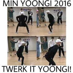 Werk, werk, werk, werk, werk, werk, let me see ya twerk, twerk, twerk, twerk, twerk, twerk.. ❤ Yoongi this is in the Bangtan history books now and it will never die #BTS #방탄소년단