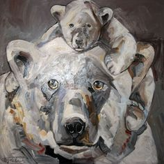 Nom de l'oeuvre : Maman Bébé #tableau Marta Milossis