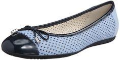 Geox Women's D Lola L Glicine/Blue Ballet Leather Nubuck D11M4L0Dp67C8180 Sz 8.5