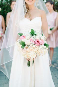 Blush and Metallic Romance DIY bouquet on Grey Likes Weddings | Michelle Lange Photography