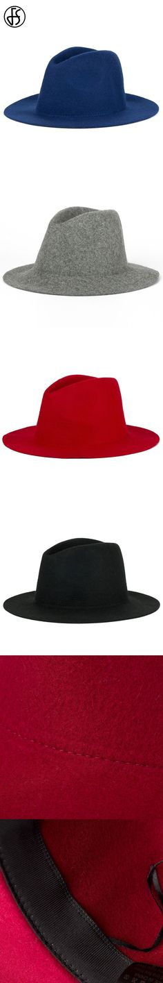 d0871dbd FS British Styles Black Fedora Hat For Women Fashion Wool Bowler Felt Hats  Vintage Female Jazz