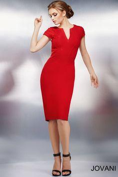 El color de amor! Este traje es sencillo y apropriado para el trabajo #Jovani 26564
