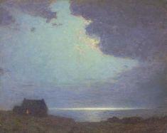 """""""The Coast Guard's Hut,"""" Birge Harrison, oil on canvas, 16 x 20"""", private collection."""