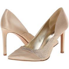 Nine West Caviar High Heels, Tan ($50) ❤ liked on Polyvore featuring shoes, pumps, tan, tan shoes, nine west shoes, high heel shoes, pointy toe shoes and tan pointed toe pumps