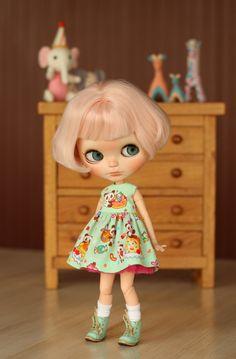 Panda Dress for Blythe doll