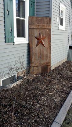 Old Barn door :) also love the shutters.