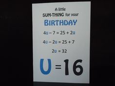 Equation Birthday Greeting Card
