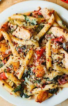 Italian Recipes, New Recipes, Cooking Recipes, Healthy Recipes, Spinach Pasta Recipes, Healthy Meals, Easy Recipes, Most Popular Recipes, Healthy Dishes
