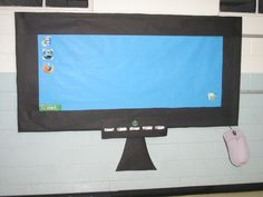 Great way to cover my outside bulletin board.  Will add labels such as task bar. Icon start menu etc.