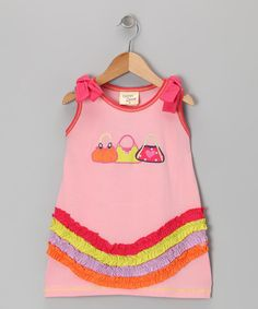Take a look at this Pink Purse Dress - Toddler & Girls by Cheeky Smyle on #zulily today!