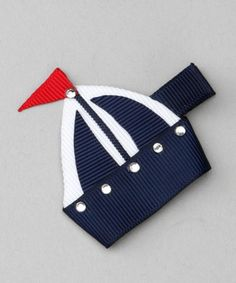 Take a look at this Bubbly Bows Navy Blue Sailboat Clip by Bubbly Bows on #zulily today!