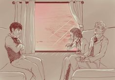 Jem Carstairs, Will Herondale and Tessa Gray