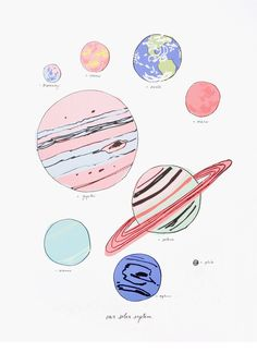new arrival // solar system print