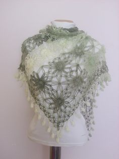 Green Mohair Shawl Fashion Capelet bolero stole silk poncho necklace $64 http://www.etsy.com/people/modelknitting