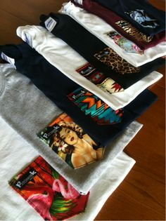 Different patch pocket tees