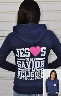 21 10% off with code BF10 -ZIPHOODIE-JESUS IS MY SAVIOR-NAVY