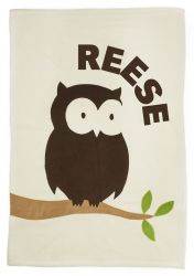 Admiral Road Personalized Owl Baby Blanket
