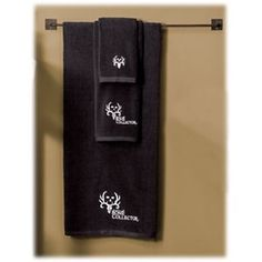 Bone Collector 5-Piece Embroidered Towel Set - Black
