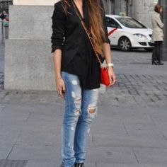Zara ripped jeans light blue I am obsessed with Zara ripped jeans. I lost weight and have to say goodbye to my favorites Zara Jeans Skinny