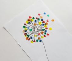 This kids craft tutorial is a fun finger painting project for all ages. Thumb Painting, Finger Painting For Kids, Dandelion Painting, Dandelion Wall Art, Easy Flower Painting, Flower Prints, Flower Art, Preschool Crafts, Crafts For Kids