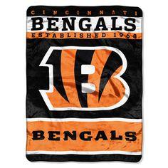 Cincinnati Bengals NFL Royal Plush Raschel (12th Man Series) (60in x 80in)
