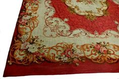 Antique Aubusson French Carpet Rug 6