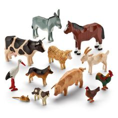 List navigationbrowse Set of Farmyard Ring-Turned Animals