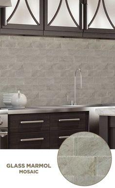 #tile #lowes #mosaics #glassmosaics #backsplash VG107GREY0306 Available at Lowe's and Lowes.com
