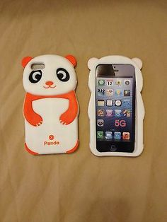 Hot 3D Orange/White Anime Panda Soft Silicon Case Cover For Apple iPhone 5 5S 5C $4.69 via @Shopseen