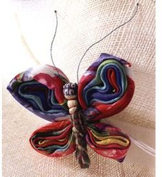 Fabric Butterfly Pin