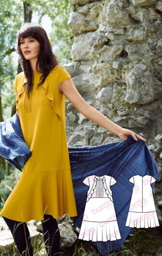 Flounce Dress Burda Dec 2016 #107 http://www.burdastyle.com/pattern_store/patterns/flounce-dress-122016