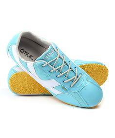 CMUK. Light Blue & Yellow Surf Sneaker by CMUK. #zulily #zulilyfinds