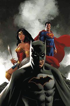 Batman, Wonder Woman, & Superman of the Justice League Marvel Dc Comics, Dc Comics Art, Batman Wonder Woman, The Avengers, Batwoman, Trinidad, Justice League Cast, Batman E Superman, Batman Art