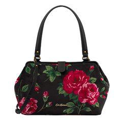 Ardingly Rose Velvet Frame Handbag