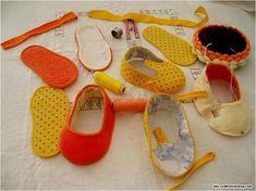 Chão de Giz Artesanatos: Lindos Sapatinhos de Tecido para Bebê