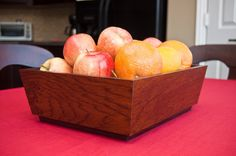 Fruit Box made with scraps of hardwood flooring