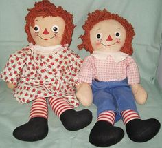 Vintage Georgene Raggedy Ann and Andy