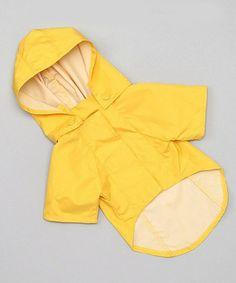 Yellow Hooded Pet Rain Jacket #zulily #zulilyfinds